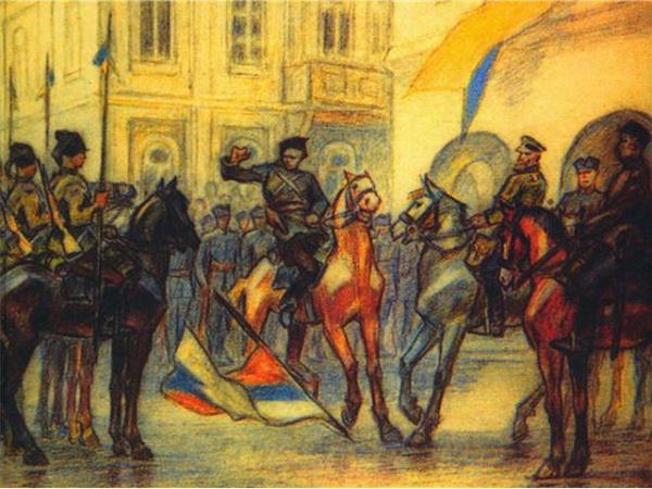 Картина Перфецкого «Киев, 31 августа 1919 года»