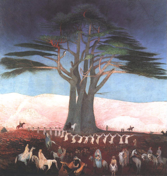 Паломничество к кедру ливанскому. Картина венгерского художника Тивадара Чонтвари. 1907 г.