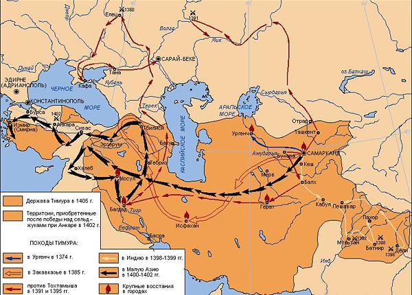 Держава Тимура и его походы
