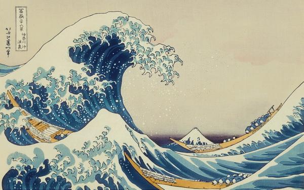Рис. 1.Большая волна в Канагава. Кацусика Хокусай