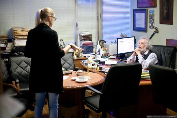 Леся Рябцева и Алексей Венедиктов. Фото Георгия Мальца