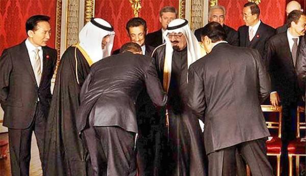 Барак Обама склонился перед королем Абдаллой Аль Саудом