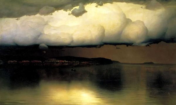 Притихло. Картина Николая Дубовского