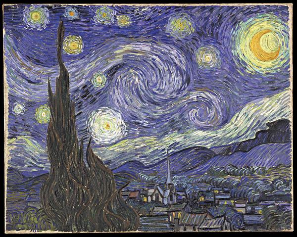 Рис. 5.  Ван Гог, «Звездная ночь»