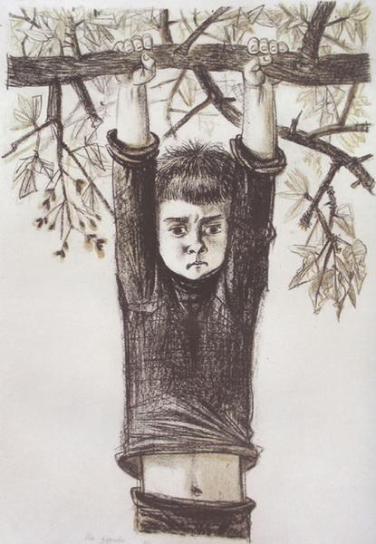 Александр Андреев. На дереве. 1985 год