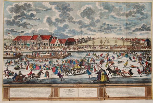 Питер Схенк (1746) Катание на льду р. Амстел