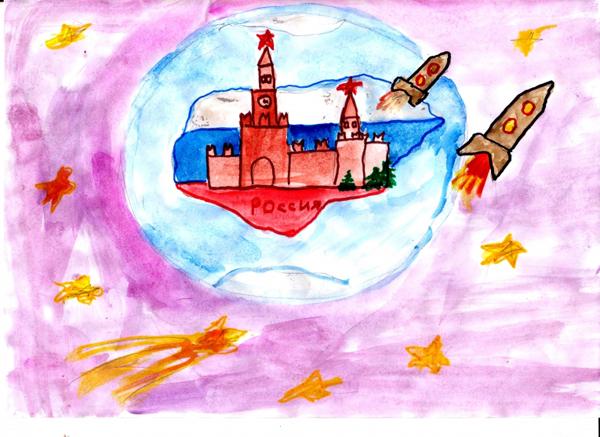 Символы России. Детский рисунок
