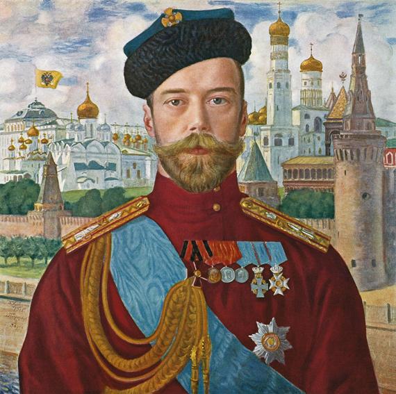 Борис Кустодиев. Портрет Николая II, 1915