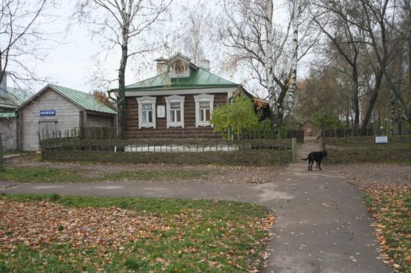 Дождливый октябрьский день в Константиново. Дом Сергея Есенина. Фото Олега Давыдова