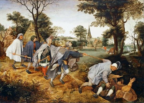 Питер Брейгель Младший. Слепой ведет слепых. Около 1600 г. Лувр.