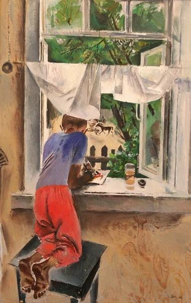 Моисеенко Евсей Евсеевич (1916-1988). Юный художник. 1970