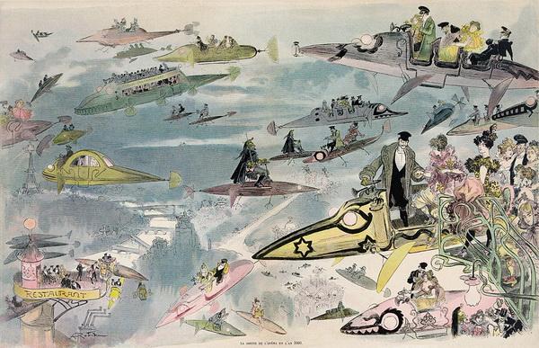 Будущее. Париж. Рисунок 1902 года