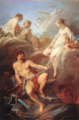 Венера просит своего мужа Вулкана сковать оружие для Энея