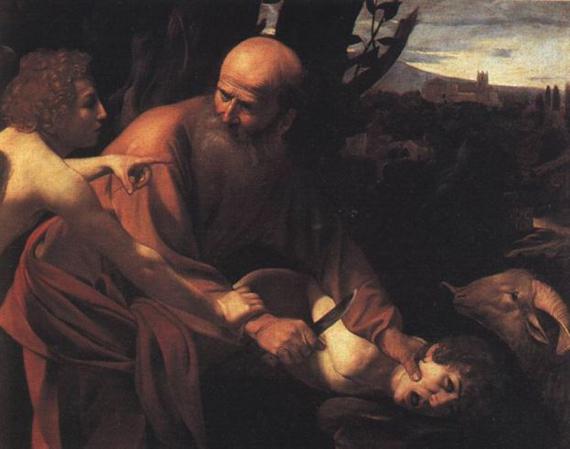Микелианджело да Караваджо. Жертвоприношение Авраама