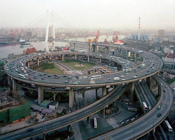 Дорожная развязка в Шанхае