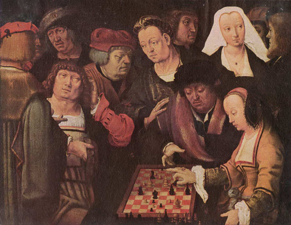 Лукас ван Лейден. Игра в шахматы
