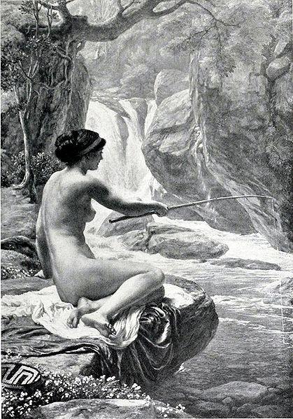 Юная нимфа. Картина Эдварда Джона Пойнтера