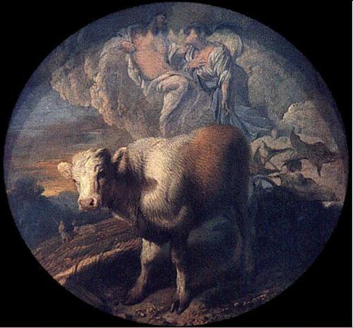 Ио, Гермес и Аргус. Картина Джованни Бенедетто Кастильоне