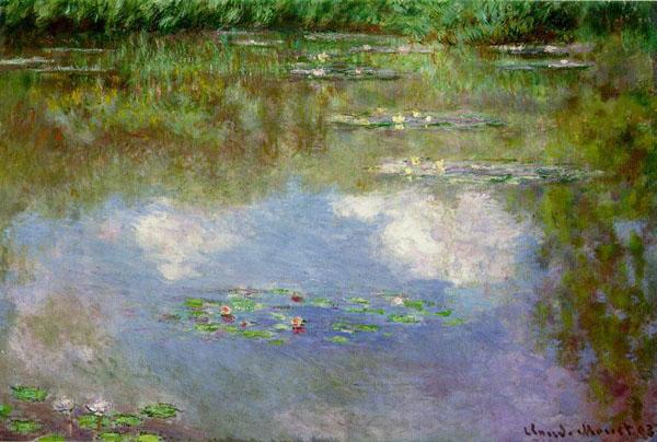 Водяные лилии (Облака). Картина Клода Моне