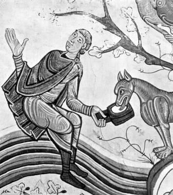 Благовещение пастухам. Фреска 12 века из церкви Сан-Исидоро, Леон, Испания