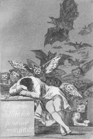 Сон разума рождает чудовищ. Франсиско Гойя