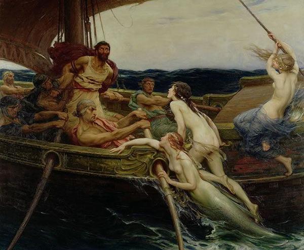 Сирены и Одиссей. Герберт Дрейпер