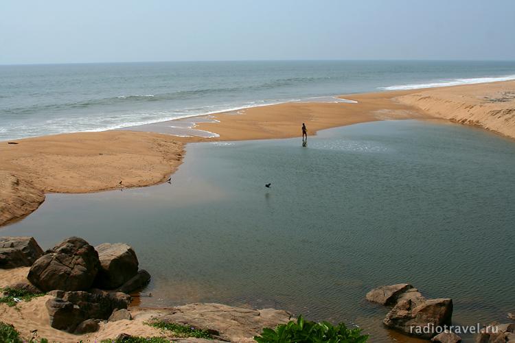 Керала, Бекал, Капил бич, море, Лаккадивское, рыбак, пляж
