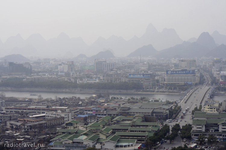 Guilin, panoramic view from Seven Star Park