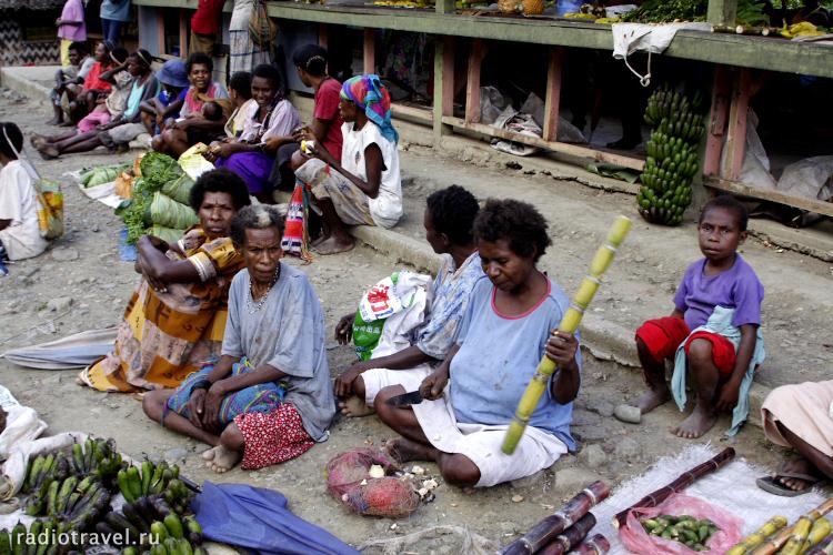 рынок в Папуа-Новой Гвинее
