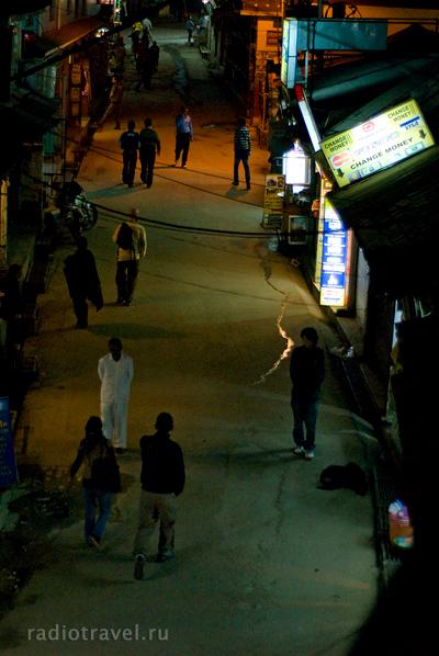 Дарамсала, улица, вечер, фото