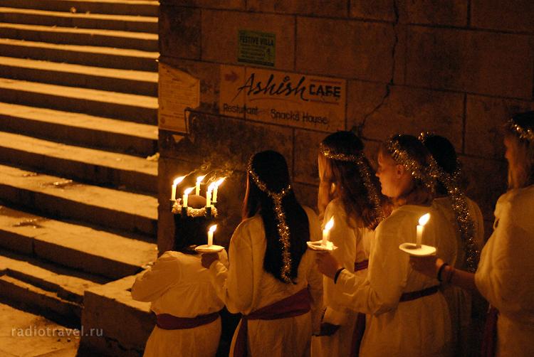Христианские ритуалы в Варанаси