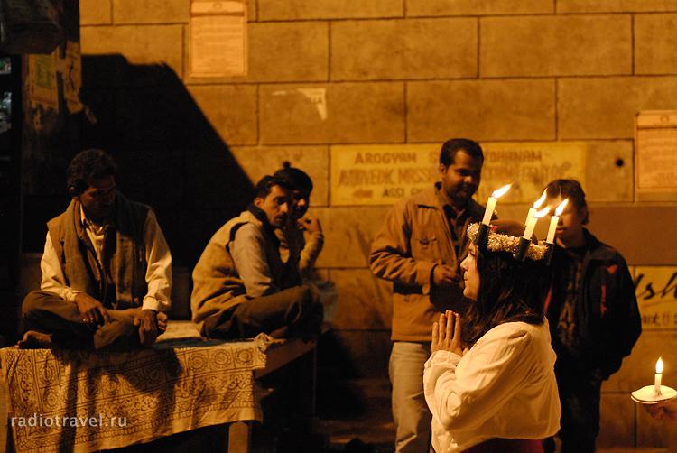 Индия, Варанаси, христианские мессианеры