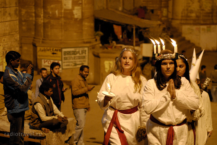Индия, Варанаси, христиане, Санта Люсия