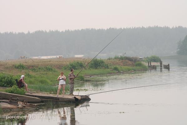 Рыбалка у переправы