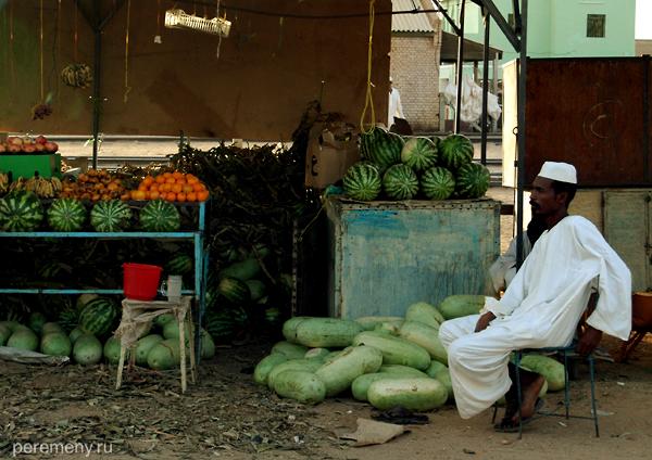 Рынок овощей и фруктов в Кариме