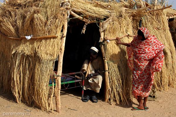 Семейный очаг в суданской пустын