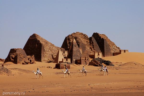 Для местных пирамиды Мероэ - лишь деталь пейзажа